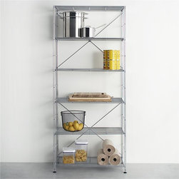 MAX Chrome 6-Shelf Unit - I absolutely love this chrome shelving unit. I think it's used most commonly for storage in the kitchen, but how cool would it look in an office stacked with storage boxes, magazines, etc?