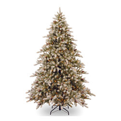 None - 9-foot Snowy Concolor Fir Hinged Tree with Snowy Cones and 950 Ready-Lit Clear L - Bring a cozy winter feel to your home with this stately 9-foot Snowy Concolor Fir Hinged Tree with Snowy Cones and 950 Ready-Lit clear lights. This gorgeous tree brings an authentic,wintery feel to get your home ready for the holidays in no time.