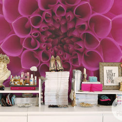 """Abstract Flower - Vinyl Wall Mural """"Abstract Flower"""" - from the collection """"The Secret Garden"""" by PIXERS"""