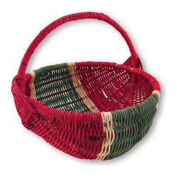Zeckos - Wicker Watermelon Decorative Basket - This wonderful watermelon basket will brighten any kitchen, dining room, covered porch or craft room It's hand-woven from wicker and hand-painted in a fun red and green yummy watermelon design It adds a pop of color to a boring shelf, or brings a dark corner to life. Place a potted plant inside and display amidst your indoor garden for a fun accent This wonderful woven watermelon basket measures 9 inches high, 8 1/2 inches long and 9 inches wide. It's perfect to display near your entryway to hold loose change, and will induce a smile as you drop your keys in after a long, hard day, and makes a wonderful gift