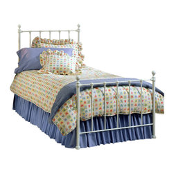 Hillsdale - Hillsdale Molly Metal Bed in White-Full - Hillsdale - Beds - 1222BFR - Classic country styling and cottage charm make the Molly Bed a practical and stylish choice for either a boy's or girl's room. Featuring decorative castings and a cleanly rustic white finish this bed offers warm and inviting sensibility to any room.