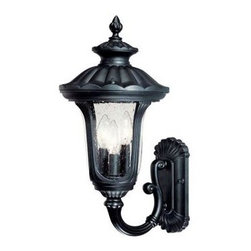 Acclaim Lighting - Outdoor Lighting. Augusta Collection Wall-Mount 3-Light Outdoor Matte Black Ligh - Shop for Lighting & Fans at The Home Depot. The Augusta collection 3-light wall-mounted lantern is made of durable cast aluminum. This material is a good choice for exterior lighting since it does not rust and resists corrosion. Complementing its elegant design, this lantern features a clear seeded glass globe.