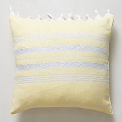 "Anthropologie - Pestemal Pillow - By Christen MaxwellSide zipCotton; down fillDry clean16"" squareUSA"