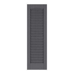 "Perfect Shutters 17.75W in. Louvered Cathedral Top Vinyl Shutters - What could be better than an accent piece fit for a house of God? The Perfect Shutters 17.75W in. Louvered Cathedral Top Vinyl Shutters are affordable exterior shutters that enhance the curb appeal and increase the value of your home with their real wood look and cathedral top design. This pair is made from 100% color-through polypropylene that's fade resistant and will never crack or chip away like paint. The weather-resistant vinyl also features a simulated wood grain texture for the appearance of classic wooden construction without all the maintenance. Custom designed these premium shutters can be purchased in any of 5 unique styles that showcase no mullion at all a center mullion or 2 mullions spaced out the way you want them! A variety of size (33H inches to 79H inches) and color options are also available so you can easily complement any exterior decor. Includes shutters and hardware. Product shown in image will be shipped; style illustrations only represent proportions available. About Perfect Shutters Inc.Since 1976 Perfect Shutters Inc. has been making custom sized shutters that are both beautiful and affordable. The company originally got its start in the small town of Zenda as a local siding distributor that had a knack for shutters. The level of craftsmanship made for good word of mouth and even better business and before long that business outgrew the building in Zenda and """"Shutters Inc."""" relocated to Hebron IL. It was there that some of the greatest innovations were made like Dura-Prene construction and all new styles and colors. By 2001 """"Shutters Inc."""" didn't quite describe the quality of goods being sold and the brand was renamed to the more appropriate Perfect Shutters Inc. Today they offer the widest selection of styles and options in the custom vinyl shutter market with new ideas always on the horizon."