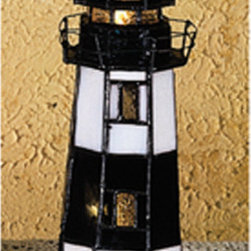 Meyda - 9.5 Inch Height x 3 Inch Width Montauk Point Lighthouse Accent Table Lamps - Color theme: Black CA