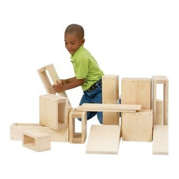Guidecraft Jr Hollow Blocks - About GuidecraftGuidecraft was founded in 1964 in a small woodshop, producing 10 items. Today, Guidecraft's line includes over 160 educational toys and furnishings. The company's size has changed, but their mission remains the same; stay true to the tradition of smart, beautifully crafted wood products, which allow children's minds and imaginations room to truly wonder and grow.Guidecraft plans to continue far into the future with what they do best, while always giving their loyal customers what they have come to expect: expert quality, excellent service, and an ever-growing collection of creativity-inspiring products for children.
