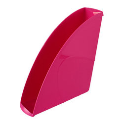 "CepPro Gloss Pink Magazine File - Jazz up your space with the Cep Pro Gloss line of colorful desk accessories. Full of character and vivaciousness, these pieces will set your office space apart from the everyday humdrum. Work in color. The design of the magazine file is sleek and modern. Arranging in multiples is easy because each magazine file has a lip at the top for easy gripping. Color makes an easy filing system. It's your space, organize in color. Mix and match with other Cep cute desk accessories. Letter tray, desktop organizer, pencil cup sold separately. Lightweight plastic is made from 100% recyclable material. 13.7""L X 10.1""W X 2.6""H"