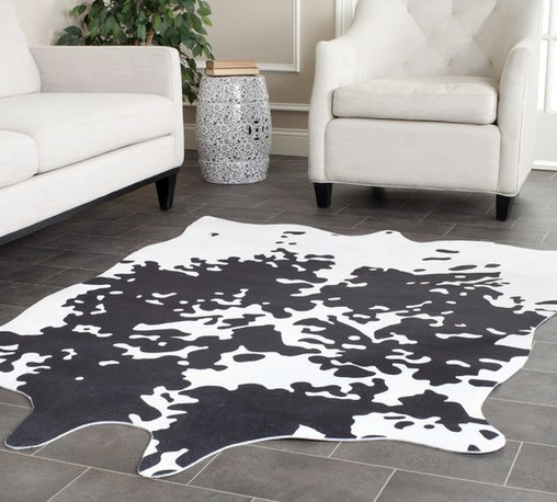 Safavieh - Safavieh Faux Cowhide Brindle Polyester Rug (5' x 6'6) - Safavieh's Faux Cowhide collection is inspired by timeless designs crafted with the softest polyester available.