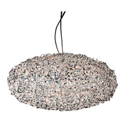 Trend Lighting - Rizado 12 Light Chandelier - This incredibly refined, modern chandelier will wow you with its woven-polished chrome design. Shapely and intriguing, this light is one you'll love turning on.