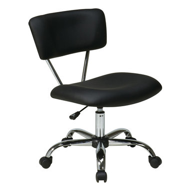 Office Star - Office Star Vista Task Office Chair Black Vinyl - Vista Task Office Chair Black Vinyl by Ave Six What's included: Office Chair (1).