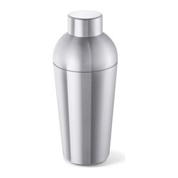 Zack - Contas Cocktail Shaker - Stylish and logical design. Brushed silk polish. Capacity: 17 fl. oz.. Made from 18/10 stainless steel. Matte finish. Made in Germany. 7.9 in. H (13.9 oz.)