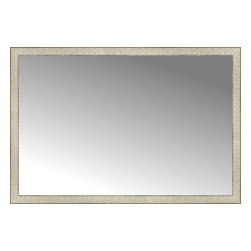 """Posters 2 Prints, LLC - 50"""" x 34"""" Libretto Antique Silver Custom Framed Mirror - 50"""" x 34"""" Custom Framed Mirror made by Posters 2 Prints. Standard glass with unrivaled selection of crafted mirror frames.  Protected with category II safety backing to keep glass fragments together should the mirror be accidentally broken.  Safe arrival guaranteed.  Made in the United States of America"""