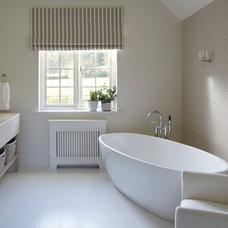 Farmhouse Bathroom by Helen Green Design