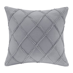 Harbor House - Harbor House Linen Square Pillow - The Harbor House Linen Square Pillow is the perfect finishing touch to the Linen Duvet Mini Set. The geometric design adds a touch of flair to an otherwise simple and casual design. Made from 100% linen the simple design offers comfort and luxury. Body: 100% linen Filling: 100% poly