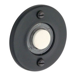 Baldwin Hardware - Wired Round Bell Button Door Bells - Oil-Rubbed Bronze in Oil Rubbed Bronze - Feel the difference � Baldwin hardware is solid throughout, with a 60 year legacy of superior style and quality. Baldwin is the choice for an elegant and secure presence. Baldwin guarantees the beauty of our finishes and the performance of our craftsmanship for as long as you own your home.
