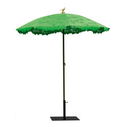 Droog - Shady Parasol - Sometimes you'd like an outdoor umbrella that has some character, but not at the expense of functionality. This shady parasol, made of a sun-friendly fabric that allows just a few rays to seep through, might be just what you're looking for. A demure bird the very top gives the shade some extra whimsy.