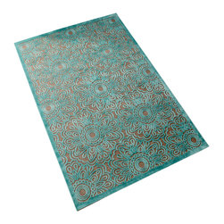 Cyan Design - Cyan Design 05765 Charell 7.7' x 10.6' Green Traditional Power Loomed Floral Rug - We're bringing flower power back in a big, beautiful way. The Charell from Turkey, with its vibrant color palette and bold flower design is sure to put a smile on your face, not to mention guarantee your status as the coolest cat in the cul-de-sac.
