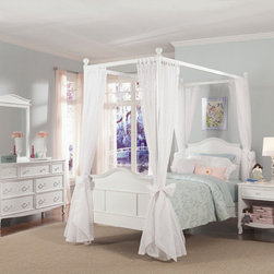RR - Emma 4-Post Bed with Tall Headboard and Footboard - Emma 4 Post Bed with Tall Headboard and Footboard
