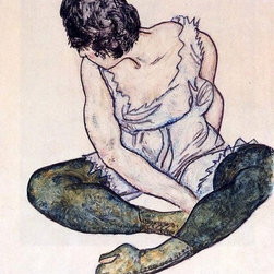 """Art MegaMart - Egon Schiele Seated Woman with Green Stockings - 18"""" x 27"""" Premium Canvas Print - 18"""" x 27"""" Egon Schiele Seated Woman with Green Stockings premium canvas print reproduced to meet museum quality standards. Our museum quality canvas prints are produced using high-precision print technology for a more accurate reproduction printed on high quality canvas with fade-resistant, archival inks. Our progressive business model allows us to offer works of art to you at the best wholesale pricing, significantly less than art gallery prices, affordable to all. We present a comprehensive collection of exceptional canvas art reproductions by Egon Schiele."""