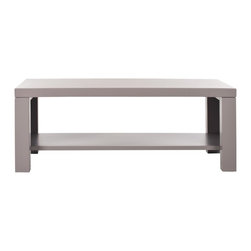 Safavieh - Lahoma Coffee Table - Grey - The Lahoma coffee table's rustic-chic fir wood with vintage gray finish lends a casual California vibe to country, modern or urban settings. Straight-edged Parson��_s lines make this piece super adaptable and versatile, with added bottom shelf for reading materials or collectibles.