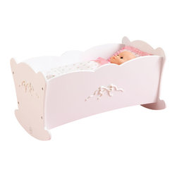 "KidKraft - Kidkraft Kids Fun Baby Bedding Pretend Play Toy Tiffany Bow Lil' Doll Cradle Kit - Young girls will love pampering their favorite dolls with our Tiffany Bow Doll Cradle. This cute cradle is a perfect place for dolls to rest after long days of imaginative playtime. Dimension: 21.25""Lx 12""Wx 11.5""H"