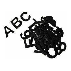 The Felt Store - Acrylic Felt Alphabet Stickers, Black, 81 Pieces - The Felt Alphabet Stickers are a fun learning tool for teachers and kids! These packs include 81, 2 inch (51mm) letters and numbers that can easily be peel and stick to almost any surface. In each pack there are two sets of uppercase letters from A - Z, 2 sets of numbers from 0 - 9 and the remaining characters include various glyphs such as +-=,?!.(). Teach your kids or students to spell, count, add or decorate their walls and doors with these felt pieces. Made of 100% Acrylic Felt and adhesive backed, these letters will go where magnets cannot. Available in 7 colors.