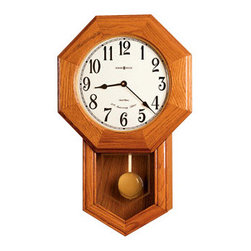 "HOWARD MILLER - Howard Miller Elliot Schoolhouse Wall Clock - This handsome clock is inspired by the classic ""School Days"" style of wall clock."