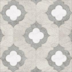 Talya Multi Finish 11 3/8x11 3/8 Irene Alav D Marble Waterjet Mosaics -