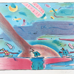 Peter Max, Sailboats, Lithograph - Artist:  Peter Max, German/American (1937 - )