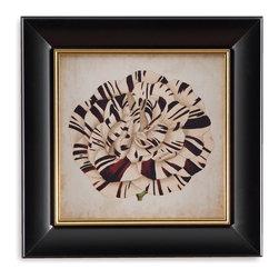 Bassett Mirror - Bassett Mirror Framed Under Glass Art, Pop Floral V - Pop Floral V