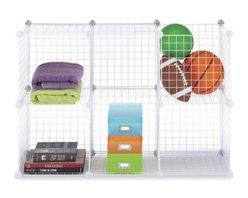 Whitmor - Wire Storage Cubes Set 6 White - Whitmor White Storage Cubes Set of 6 Cube