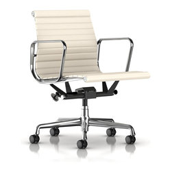 Herman Miller - Eames Aluminum Management Chair - Managing your comfort for a long day at your desk is important to your health and your bottom line. It helps if you can look cool doing it. Welcome the Eames chair to your management style. Sleek, minimal, classic design meets ergonomically correct office chair.
