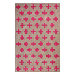 """nuLOOM - Contemporary Fuchsia Hand-Tufted Area Rug EU08,  8'6"""" x 11'6"""" - Made from the finest materials in the world and with the uttermost care, our rugs are a great addition to your home."""
