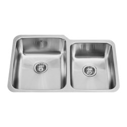 VIGO Industries - VIGO 32-inch Undermount 18 Gauge Double Bowl Kitchen, Sink - Give your kitchen a makeover starting with a VIGO stainless steel kitchen sink