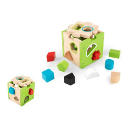KidKraft - Shape Sorting Cube by Kidkraft - Our Shape Sorting Cube lets young boys and girls work on shape recognition, color recognition, and eye-hand coordination, all while having lots of fun. Seeing the look on a child's face when he get the shape into the right hole for the first time is a memory you'll cherish forever.