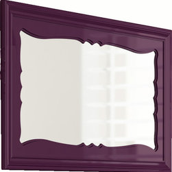 "Damasco 59"" decorative mirror. Aubergine - Damasco mirror 59"". Aubergine gloss."