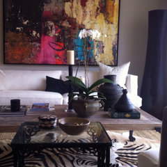 eclectic living room Sharon Imbriani