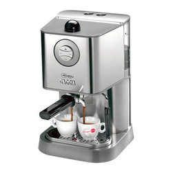 Gaggia - Gaggia Baby Class Semi-Automatic Espresso Machine -Brushed Stainless - Removable 60-oz water reservoir. Chrome-plated marine brass 58mm commercial style portafilter for use with ground coffee or ESE coffee pods. Dual heating system, 1 boiler for brewing and a thermoblock for steaming, theres no downtime between brewing and steaming. Commercial brew groupStainless steel Turbo Frother. Attachchment mounted on a ball joint. 3.5oz boiler with two external heating elements. 55 watt electric pump. Three-way solenoid valve. Rocker-swit control power, steaming and brewing. ESE Pod Ready. To make brewing easy, the Baby Class is ready to brew using ESE pods. These pre-package, pre-measured, and pre-tamped pods eliminate the need for a grinder or tamper. Just use the included ESE pod filter basket to brew. Brushed stainless steel finish Includes: Instruction manual, coffee scoop, plastic tamper, and single, double, and ESE pod filter baskets. Dimensions: 15.7 H x 9.6 W x 10.4 D. 1-Year Warranty.