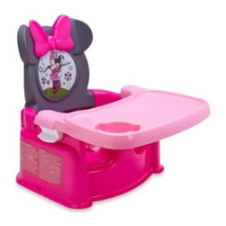 Tomy - Minnie Mouse Dream Festival Booster Seat - The Minnie Mouse Dream Festival Booster Seat brings the magic of Minnie Mouse to the table for your child. Booster has a comfy, contoured high-back seat, featuring Minnie's famous ears with a big pink bow and fun Minnie Mouse graphic.