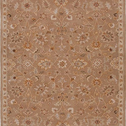 "Jaipur - Transitional Poeme Hallway Runner 2'6""x8' Runner Tan-Tan Area Rug - The Poeme area rug Collection offers an affordable assortment of Transitional stylings. Poeme features a blend of natural Tan-Tan color. Hand Tufted of 100% Wool the Poeme Collection is an intriguing compliment to any decor."