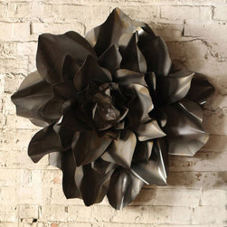 Metal Flower Wall Accent in Raw Finish - Looking for unique wall art? May we suggest a Metal Flower Wall Accent or two? These rustic chic decorative pieces feature delicate flowers in industrial finishes. Try arranging a few of them together for a striking effect.