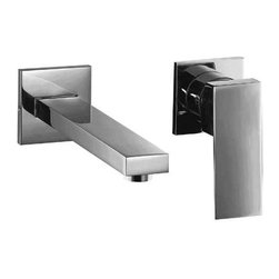 ALFI brand - ALFI brand AB1468 Single Lever Wallmount Bathroom Faucet, Brushed Nickel - Looking to upgrade the look of your bathroom? This square edged single lever faucet might just do the trick. Clean simple wallmount installation makes it more convenient than ever to spice up your bathroom decor and create a unique look.