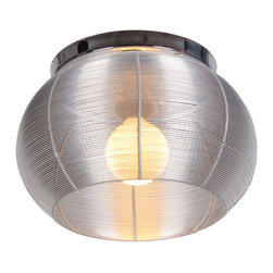 Bromi Design - Bromi Design Lenox 1 Light Round Silver Drum Pendant - Stainless steel just got a new lease on light in this dazzling pendant. If yours is a contemporary or modern decor this light is a quiet, elegant touch of restraint. In a more traditional space, this light will steal the show.