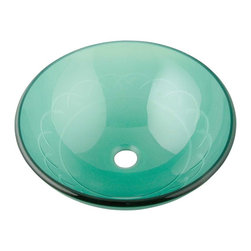 Renovators Supply - Glass Sinks Frosted Glass Nimbus Textured Glass Vessel Sink Round - Glass Vessel Sinks: Textured Frosted Tempered glass sinks are five times stronger than glass, 1/2 inch thick, withstand up to 350 F degrees,  can resist moderate to high degrees of impact & are stain��_��__��_��__��_��__proof. Ready to install this package includes FREE 100% solid brass chrome-plated pop-up drain, FREE machined 100% solid brass chrome-plated mounting ring & silicone gasket. Measures 16 1/2 in. dia. x 6 in. deep x 1/2 in. thick.