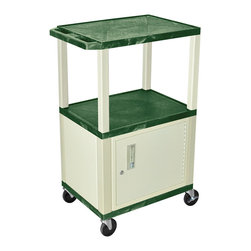 Luxor - H Wilson Presentation Cart - WT42HGC3E - H Wilson's WT Tuffy multi-purpose carts are made of high density polyethylene structural foam injection molded plastic shelves and legs that will not chip, warp, crack, rust or peel. Shelves and legs can be recycled.