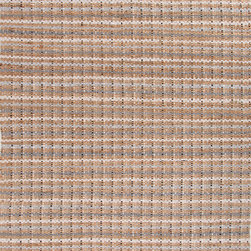 Jaipur Rugs - Naturals Stripe Pattern Cotton/ Jute Taupe/Gray Area Rug ( 5X8 ) - The Andes collection is hand-woven with jute and recycled Chindi cotton fabric for touches of both color and a softer feel. Eco friendly and durable, these rugs fit in a variety of homes.