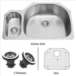 Vigo - VIGO VG3321RK1 Undermount Kitchen Sink - Give your kitchen a makeover starting with a VIGO stainless steel kitchen sink, matching grid and strainers set.