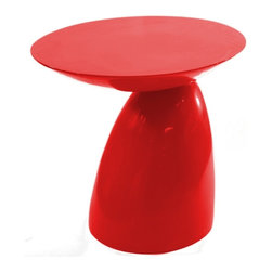 Fine Mod Imports - Oval End Side Table, Red - Features: