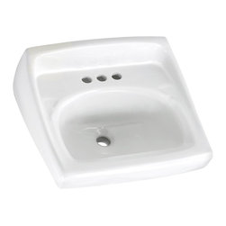 "American Standard - Lucerne 20.5"" Wall Mount Sink with Wall Hanger in White - American Standard 0355.012.020 Lucerne 20.5"" Wall Mount Sink with Wall Hanger in White. To add a clean and polished look to your home's bathroom consider installing the American Standard Lucerne Wall-Mount Bathroom Sink in White. This bathroom sink is made of vitreous china for added durability. The sink bowl has a contoured back and side splash shield. This smooth surface is stain resistant. American Standard 0355.012.020 Lucerne 20.5"" Wall Mount Sink with Wall Hanger in White, Features:Wall-hung sink"
