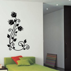 StickONmania - Blooming Flowers Design Sticker - A nice vinyl sticker and wall art design for your home Decorate your home with original vinyl decals made to order in our shop located in the USA. We only use the best equipment and materials to guarantee the everlasting quality of each vinyl sticker. Our original wall art design stickers are easy to apply on most flat surfaces, including slightly textured walls, windows, mirrors, or any smooth surface. Some wall decals may come in multiple pieces due to the size of the design, different sizes of most of our vinyl stickers are available, please message us for a quote. Interior wall decor stickers come with a MATTE finish that is easier to remove from painted surfaces but Exterior stickers for cars,  bathrooms and refrigerators come with a stickier GLOSSY finish that can also be used for exterior purposes. We DO NOT recommend using glossy finish stickers on walls. All of our Vinyl wall decals are removable but not re-positionable, simply peel and stick, no glue or chemicals needed. Our decals always come with instructions and if you order from Houzz we will always add a small thank you gift.